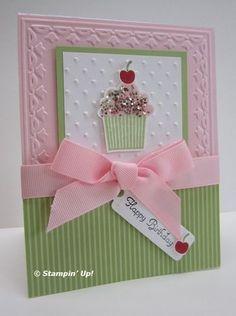 Cupcake card.
