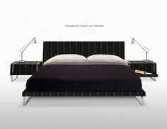 BAHAMAS BED Collection. Manufacturer; Whiteline Modern Living. Design; Stanley Jay Friedman