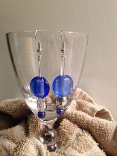 Elegant Blue Earrings by Maliacreativehands on Etsy, $12.00