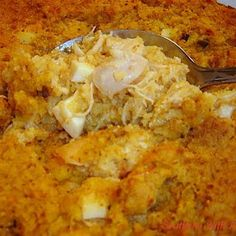Ingredients   4 chicken breasts cooked and cubed  1 pan prepared cornbread, cooled and crumbled  4 eggs, boiled, chopped  1 small o...