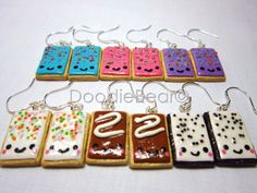 Pop Tart Cute Kawaii Polymer Clay Earrings by DoodieBear on Etsy, $12.00