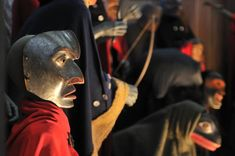 Media Gallery | Nisga'a Lisims Government Nisga'a Museum Nisga'a masks over-looking the entrance to the Ancestors' Collection at the Nisga'a Museum.