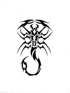 Black Tribal Scorpio flash tattoo by ghstkatt