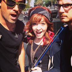 Lindsey Stirling. Look at her bow!!