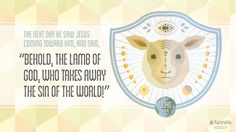 """#VerseOfTheDay 6.24.17: John 1:29. According to scholars, it is quite reasonable to believe that John the Evangelist, referencing a pre-Resurrection account of John the Baptist in a post-Resurrection gospel, intends for """"Lamb of God"""" to have a double meaning... . 1) The apocalyptic, warrior lamb who judges the unrepentant (found in post-OT, pre-NT Jewish writings) which John the Baptist plausibly has in mind. Jesus will *remove* the chaff from wheat (Mat 3:12), the weeds from the wheat (Mat…"""