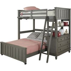 Found it at Joss & Main - Laika Twin Over Full Bunk Bed