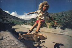 Tony Alva.  I remember seeing this photo as a kid, and thinking it was the ultimate!   http://skateonline.com.br/blog/?p=14147