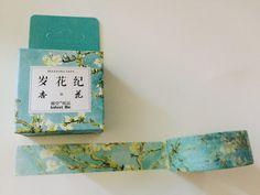 White Cherry Blossom Boxed Washi Tape by GoatGirlMH on Etsy