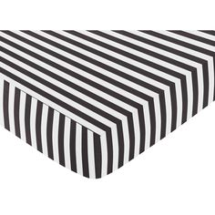 Help your little one drift off to sleep easier with this Sweet Jojo Designs crib sheet. The sheet's fitted design hugs your crib without slipping off, and it has a modern black-and-white striped design that matches many other nursery linens.