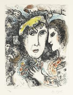MARC CHAGALL 1887 - 1985 THE ARTIST'S FAMILY (M. 679) Lithograph printed in colours, 1972, signed in pencil, numbered 25/50, on Arches wove paper image: 560 by 420mm 22 by 16 1/2 in sheet: 750 by 518mm 29 1/2 by 20 3/8 in