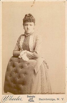 Fashionable Friday - 1880's Bainbridge, NY Woman:  http://forgottenfacesandlongagoplaces.blogspot.com/2012/06/fashionable-friday-1880s-bainbridge-ny.html