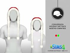 HOLIDAY HAT PACK ADULT AND CHILD | CE - SIMS 4 CC
