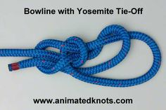 Bowline Paracord Knot and Knot Tying Instructions Survival Life, Survival Prepping, Survival Skills, Survival Shelter, Animated Knots By Grog, Scout Knots, Sailing Knots, Bowline Knot, Knots Guide