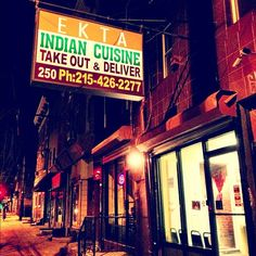 The food here is YUMMY! They don't skrimp on spices or meat...good size portions... Place is small so get there early.. Some of the best Indian in town! There are 2 Ekta locations... Girard Ave location is closest to center city...http://www.ektaindianrestaurant.com