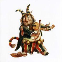 Illustration from Karel Franta Make Believe, Fantasy Artwork, Ethereal, Gnomes, Illustrators, Rooster, Fairy Tales, Weird, Decoration