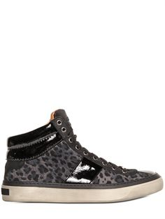 JIMMY CHOO - LEOPARD PRINTED SUEDE SNEAKERS - LUISAVIAROMA - LUXURY SHOPPING WORLDWIDE SHIPPING - FLORENCE