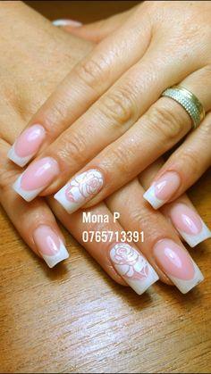 French rose nail art