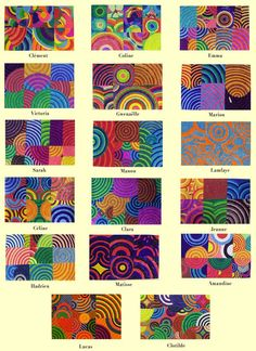 Géométrie et arts visuels Op Art, Club D'art, Ecole Art, Math Art, Principles Of Art, School Art Projects, Collaborative Art, Art Academy, Art Lesson Plans