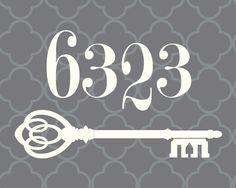 Custom Address printable, skeleton key, quatrefoil, personalized, housewarming, wedding, bridal shower, Christmas gift by CreaseStudio on Etsy https://www.etsy.com/listing/211981258/custom-address-printable-skeleton-key