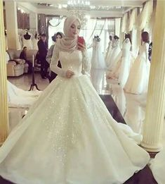 Though I'm not Muslim myself, I think Muslim wedding dresses and hijabs are so…