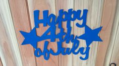 Happy 4th of July Sign 4th of July Door or by CoastalIronCrafts