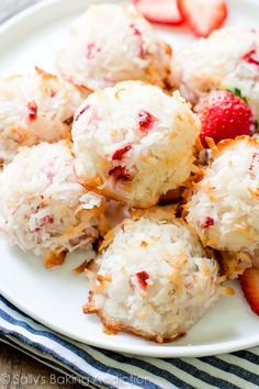 Strawberry Coconut Macaroons.