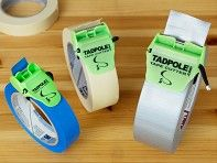 With Tadpole's tape cutter, discovered by The Grommet, you'll get a straight cut each time. Attaches to the roll easily—no more scissors or teeth needed to cut.