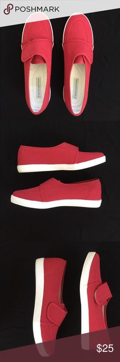 Grasshoppers slip ons All red Grasshopper velcro flap slip ons. EUC. Worn once. Womens size 8.5. Very comfy and goes with any outfit. Grasshoppers Shoes