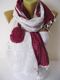 Lace scarf-Fashion scarf  gift Ideas For Her Women's