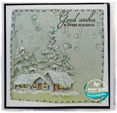 Hoi hoi allemaal,     Vandaag wil ik jullie twee kaarten laten zien gemaakt met de prachtige stempels uit de  Frozen Forest lijn  van S...