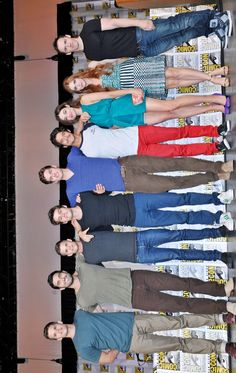 Teen Wolf cast! Haha I love how Daniel looks like he towers over everyone.