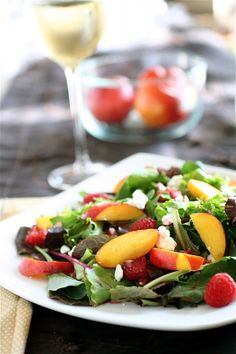 Nectarine and Blue Cheese Salad with Plum Vinaigrette | Recipe | Blue ...