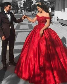 Elegant Arabic Red Prom Dress,Ball Gown Prom Dresses ,Long Off The Shoulder Prom Dress,Lace Appliques Beaded Puffy Evening Dress,Party Gowns Quinceanera Dress Ball Gowns Evening, Lace Ball Gowns, Ball Gowns Prom, Ball Gown Dresses, Dresses Uk, Evening Dresses, Party Dresses, Satin Dresses, Fashion Dresses