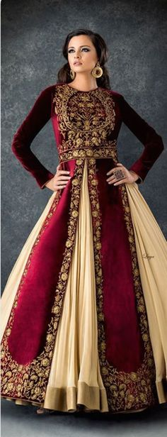 Anarkali Churidar❋Laya - House of Lutia Pakistani Bridal, Bridal Lehenga, Pakistani Dresses, Indian Bridal, Indian Dresses, Red Lehenga, Ethnic Fashion, Asian Fashion, Beauty And Fashion