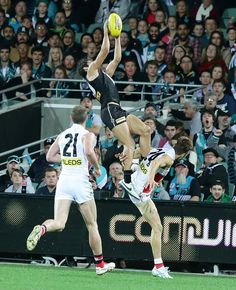 Chad Wingard takes the mark of the century! Beefy Men, Big Guns, Great Team, World Of Sports, Manchester United, Rugby, Liverpool, Competition, Basketball Court