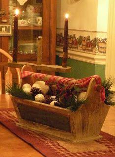 The Primitive Country Bug: Vintage Christmas Merry Christmas To All, Primitive Christmas, Country Christmas, Christmas Home, Vintage Christmas, Christmas Crafts, Christmas Decorations, Holiday Decorating, Christmas Ideas