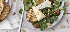 Briesalaatti |foodmarketherkku.fi Feta, Camembert Cheese, Dairy, Recipes, Rezepte, Recipe, Cooking Recipes