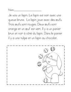 JE LIS ET JE DESSINE -PAQUES - TeachersPayTeachers.com