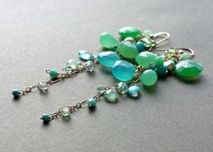 Made to order. Please see my policies page or my shop announcement for current production times on made to order items.    Gorgeous green, blue