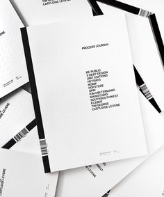 Process Journal first edition _ by Australian studio Hunt _