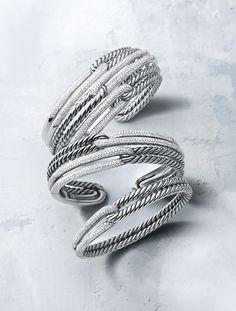 Labyrinth® bracelets with diamonds.