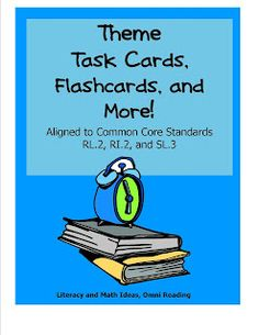 Aligned to the Common Core Publisher Specification Documents and Common Core Standards! Differentiated task cards to teach the theme of a text. Aligned to Common Core Standards and Student Reading, Teaching Reading, Teaching Ideas, Teaching Time, Learning, Reading Strategies, Reading Comprehension, Reading Tips, Guided Reading