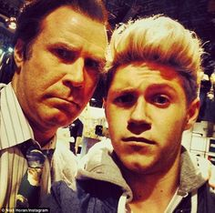Stars align: Will Ferrell posed for a photo with Niall Horan of One Direction as both appeared on Saturday Night Live in New York City Will Ferrell, Anchorman 2, Bae, Paul Rudd, Taking Selfies, James Horan, 1d And 5sos, Saturday Night Live, Inevitable