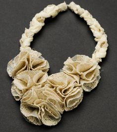 Cream lace necklace