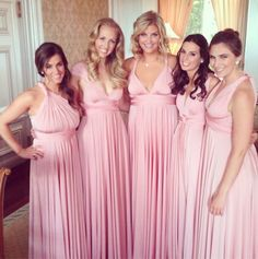Blush Ballgowns | twobirds Bridesmaid dresses