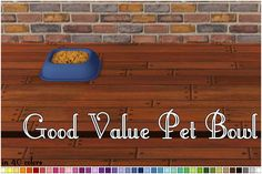 Good Value Pet Bowl Recolors Sims 2 Pets, Sims 4, Buy Pets, Pet Bowls, Pet Lovers, Digital, Games, Artist, Artists