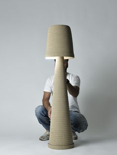 Cardboard floorlamp Paper Cutting, Floor Lamp, Clever, Objects, Table Lamp, Nice, Handmade, Ideas, Design