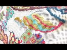 How To Draw A Design On Needlepoint Canvas.avi - YouTube