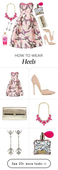"""these are my lies; makeup hairspray perfume dress heels"" by ntlpurpolia on Polyvore featuring Giles, The 2 Bandits, Diane Von Furstenberg, Victoria's Secret and Steve Madden"