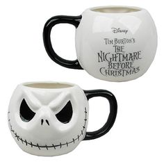 Nightmare Before Christmas Jack Skellington Head Mug - Monogram - Nightmare Before Christmas - Mugs at Entertainment from entertainmentearth.com